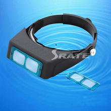 MG81007-B 4 Lens Optivisor Head Band Handsfree Magnifier Visor
