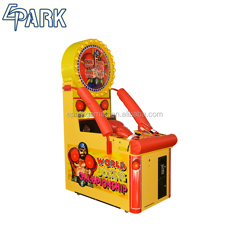 electronic arcade boxing punch world boxing game machine