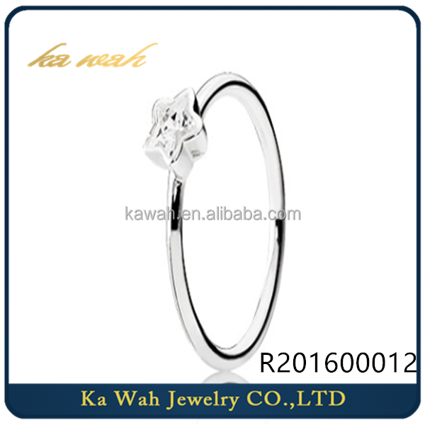 KAWAH Manufacturer Wholesale Fashion Designs Jewelry 18K Gold ring For Women Girls With Star Shape