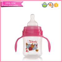 Top selling baby bottle candy shape milk bottle with handle