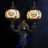 YMA42602 NEW Decor Antique Iron Moroccan Turkey Wall Sconce, Stunning Art Hand Made Mosaic Turkish Wall Lamp