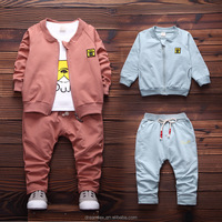 Wholesale fashion boys clothes casual sports suit kids clothing