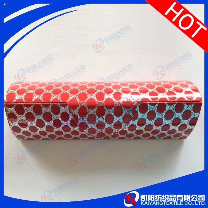New design black red leather glasses case
