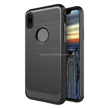 Military black color Wire drawing design silicone soft mobile phone back cover case for iphone 8