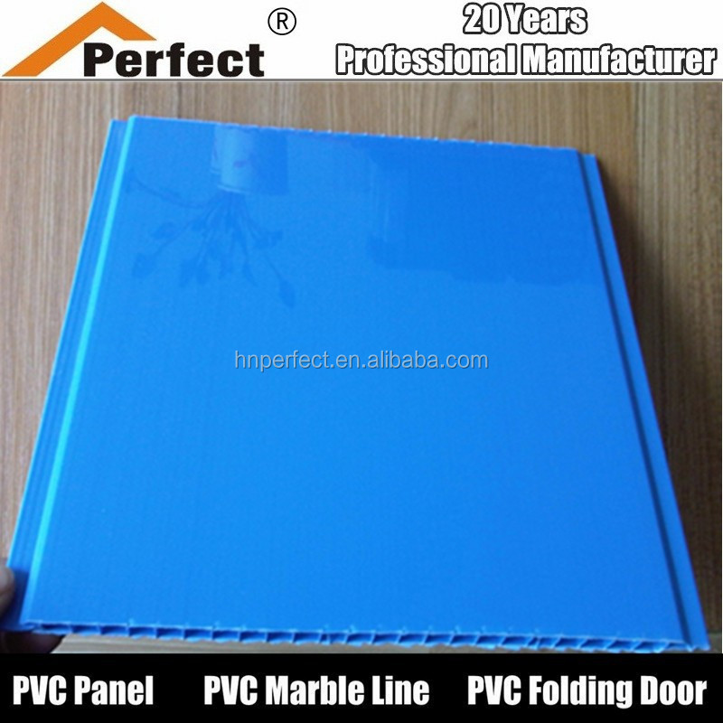 Plain Blue color pvc ceiling for interior decoration