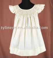 Hand smocked & embroidery bishop dress