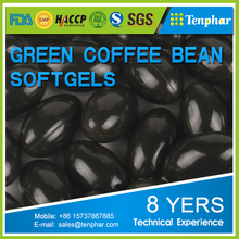 reduce weight pure green coffee bean softgel capsule supplement