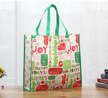 cheap silk print shopping bag,eco santa shopping bag