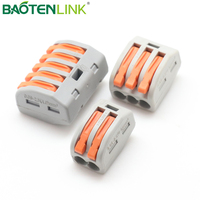BAOTENG equivalent wago 222 series push in wire connector terminal blocks durable quick connectors
