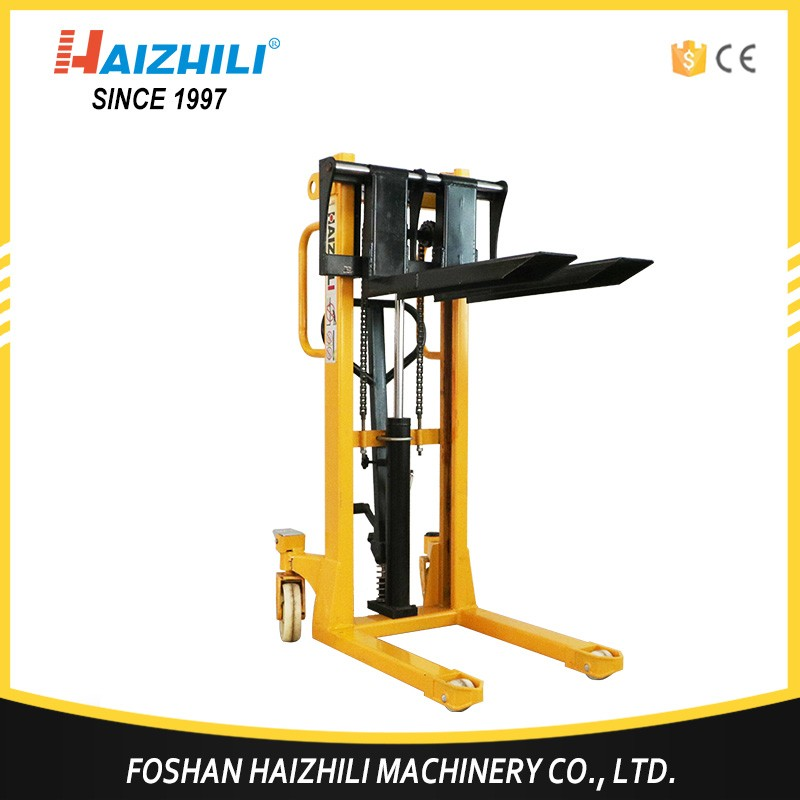 Good Manufacturer 2000kg Manual hand fork lifter, hydraulic hand forklifts stacker with low price