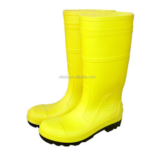 best selling top quality plastic men high safety work boots with steel toe cap waterproof Pvc working boots