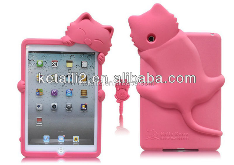 2015 Fashion design silicone case for ipad mini