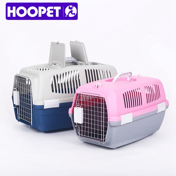 Pet Air Transport Cage PP Plastic Pet Travel Carrier Supplies