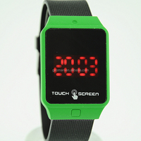 cheap sports silicone touch led watch touch screen digital watches for men