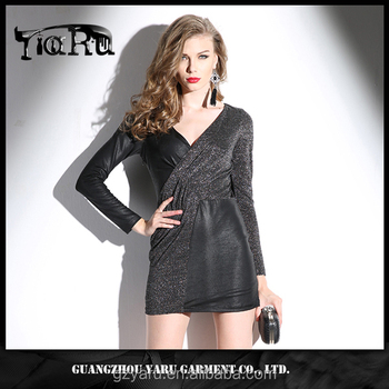 custom garment clothing sewing services manufacturer long sleeve sexy hot girl bodycon casual women short dress