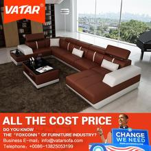 import furniture from china VATAR imported genuine leather sofa