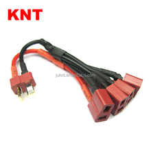 KNT RC battery charging wire Deans Ultra Y Harness For 4 packs batteries with Deans plug in parallel