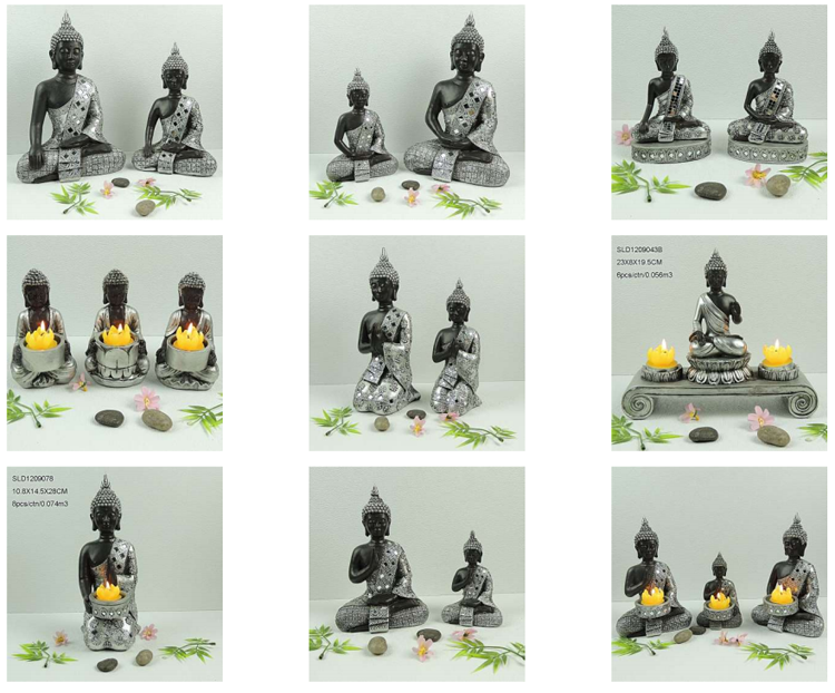 2016 Home Indoor Decorative Polyresin Wholesale Thailand Buddha