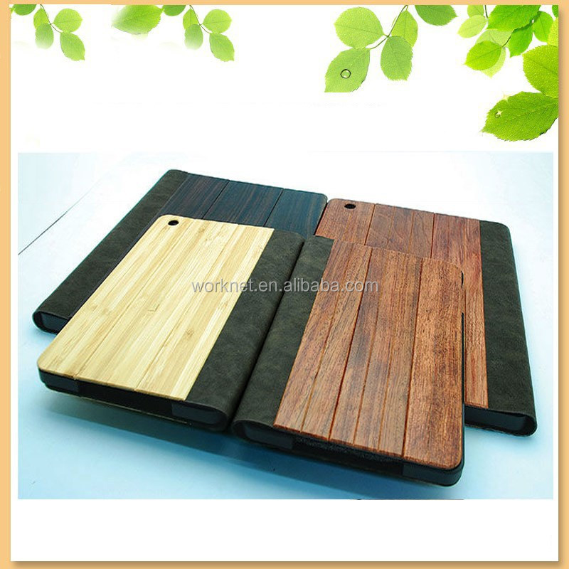 alibaba wholesale business gift bamboo leather case for ipad mini