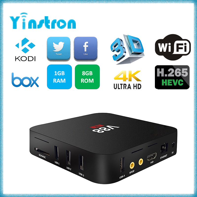 RK3229 v88 wifi kodi full loaded 1GB 8GB android 5.1 wholesale android smart tv set top box