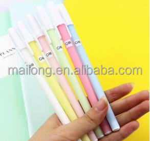 2017Japan and South Korea stationery Marca dragon color frosted neutral pen Contracted jelly color pen pen blackPN5203