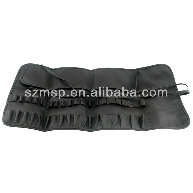 PU leather cosmetic brushes tools pouch