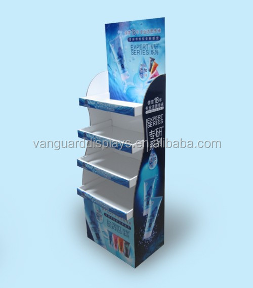 Supermarket Retail Display Shelf, Cosmetic Cardboard Display Shef