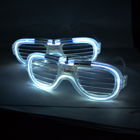 shutter White flashing led glow glasses