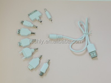 Custom 10 in 1 Port Charger Accessories Parts For USB Charger Cable