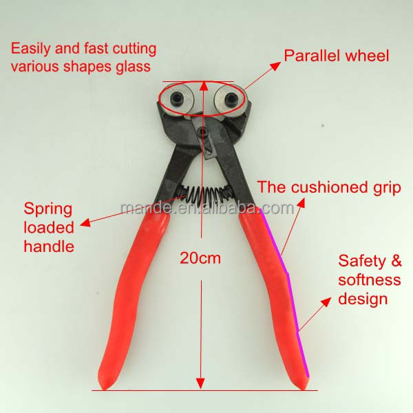 MDQ05 Wheeled pliers Mosaics glass nippers cuts glass with minimal crushing and splintering
