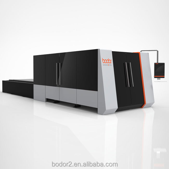 Best selling model Power 1kw, 2kw, 3kw,4kw full cover fiber laser cutting machine with IPG, MAX laser source