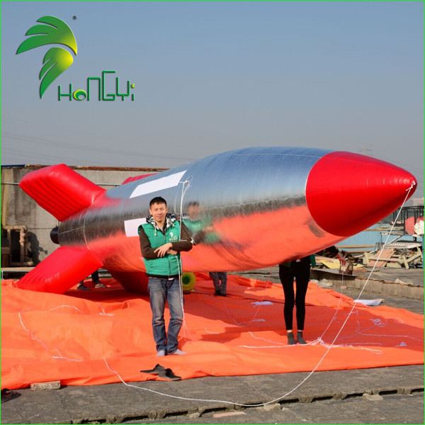 Customized Inflatable Model Rockets, Inflatable Rocket Shaped Balloon For Advertising