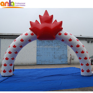 New design red inflatable Canada leaf arch for activities