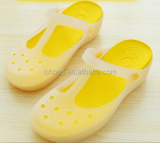 Newest design lady rubber garden shoes