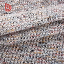 poly acrylic cotton blend yarn dyed tweed knit fabric made in China