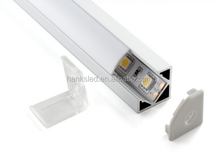 HOT!!! V shape corner mounted aluminum led lighting profile/aluminum led profile