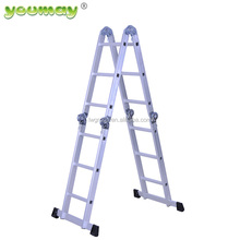 EN131 Approved Aluminum Multipurpose Adjustable Step Ladder AM0112A
