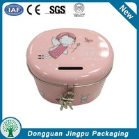 Wholesale Kids Cool Round Coin Bank with Lock