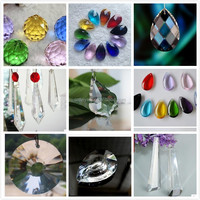 30mm colorful crystal faceted ball,crystal chandelier ball for chandelier parts