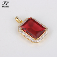 Multi metal available red gem birthstone ring pendant+african brass pendants