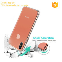 Amazon hot selling shockproof TPU clear soft back cover case for IPhone X