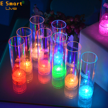 Flashing Led Wine Glass Light Up Barware Drink Cup Party Wedding