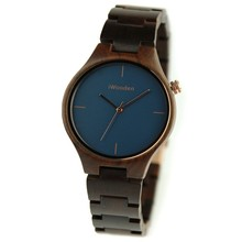 Luxury Charm Type Natural Bamboo Wood Bracelet Lady Watch