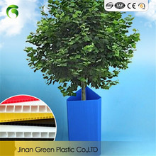 Corflute PP Plastic Corrugated Tree Plant Guard For Flower Garden