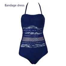 2017 SUMMER LACE HALTER SHAPERS IN SWIMWEAR &BEACHWEAR WOMEN BODYSUIT