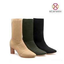 Fashion Wool Comfortable Tight Knit High Women Boots 2017