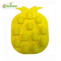 Pineapple Shape Silicone Ice Tray/Ice Cube Mold for Drinking and Beer/silicone material Ice