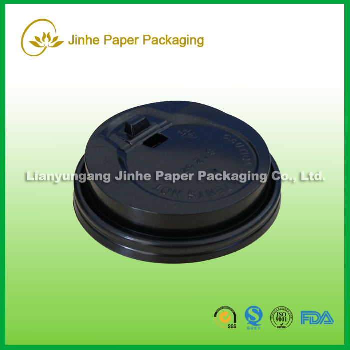 90mm paper coffee cup lid plastic lid 90mm PP plastic white clear lid
