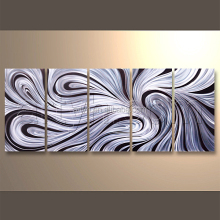 Wholesale Modern Wall Decor Craft Abstract Group Metal Wall Art Home Metal Decoration