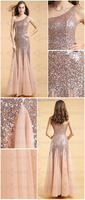 New Graceful Fashionable Full-length One-Shoulder Prom Dress